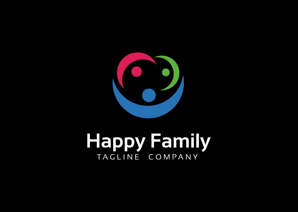 happy family logo template  68637