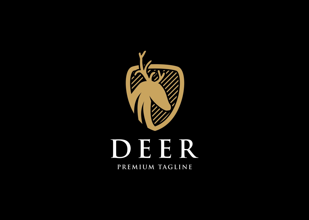 Deer Shield Logo Template #68780