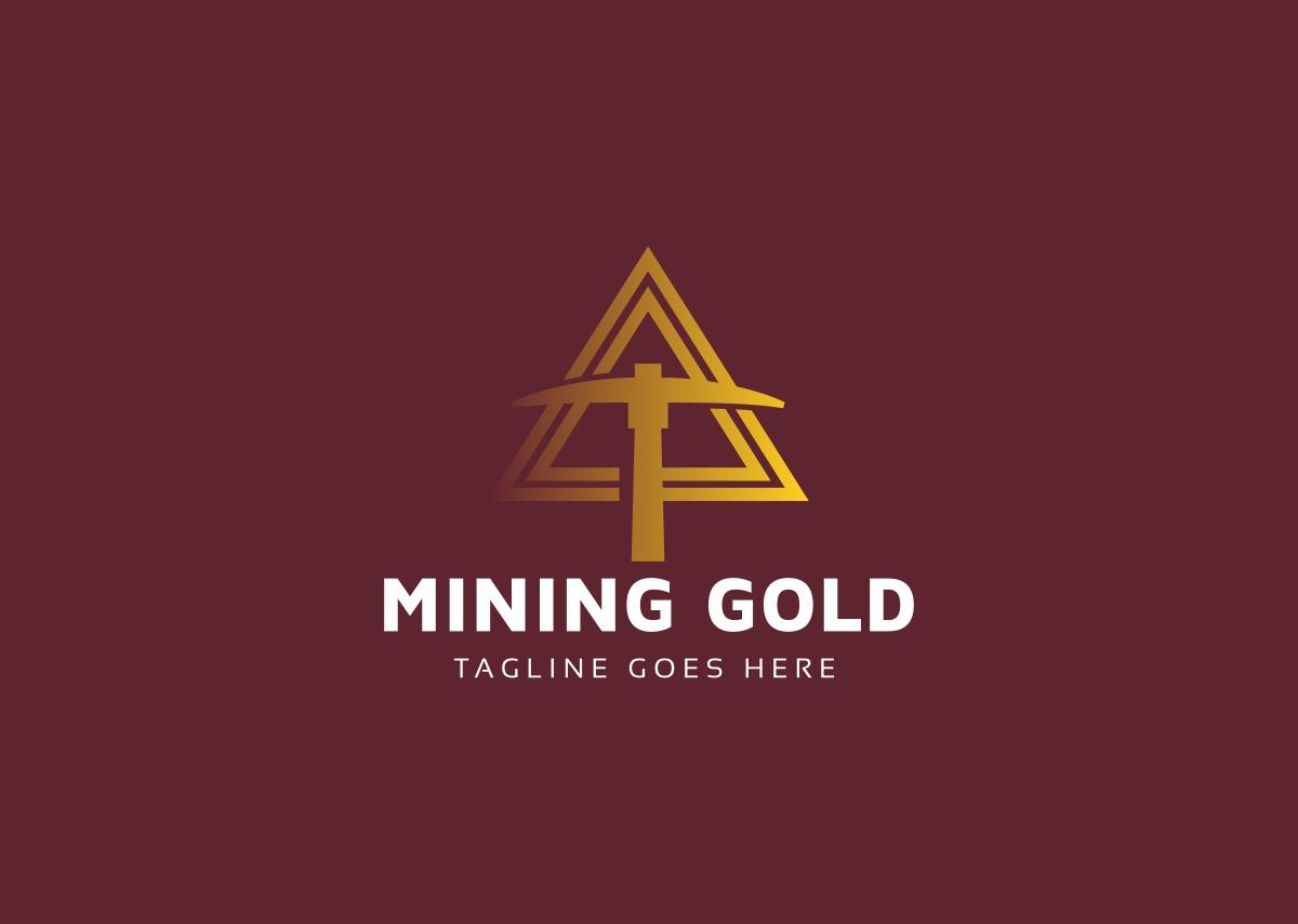 Mining Gold Crypto Logo Template 69004