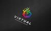 Virtual - V Letter Polygon Logo Template Big Screenshot