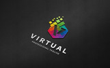 Virtual - V Letter Polygon Logo Template