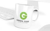 Green Code Logo Template