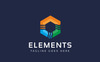Szablon Logo Elements Nature #76071 Duży zrzut ekranu