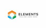 """""""Elements Nature"""" modèle logo"""