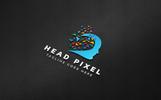 Szablon Logo Mind Pixel #76660