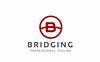 Szablon Logo Bridging B Letter #76998 Duży zrzut ekranu