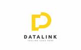 Szablon Logo Datalink D Letter #80035