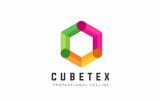 """Cubetex Hexagon"" modèle logo"