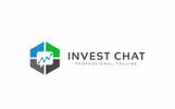 """Invest Chat Logo"" modèle logo"