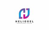 "Šablona logotypu ""Helioxel H Letter"""