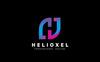 "Šablona logotypu ""Helioxel H Letter"" Velký screenshot"