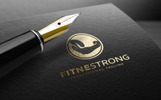 Fitness Strong Logo Template