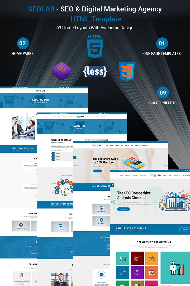 SEOLAB - SEO & Digital Marketing Agency HTML Website Template #68551