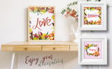 Couroupita Guianensis PNG Watercolor Set Illustration