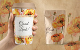 Cool Yellow Poppies PNG Watercolor Set Bundle