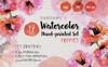 Gentle Poppies PNG Watercolor Set Bundle Big Screenshot