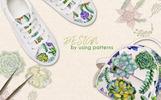 Succulent Plant PNG Watercolor Set Bundle