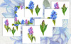 Colorful Hyacinth PNG Watercolor Bundle Big Screenshot