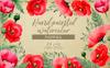 Hand-painted Poppies PNG Watercolor Set Illustration Big Screenshot
