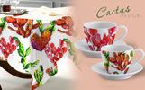 Cool Tropical Cactus PNG Watercolor Set Illustration