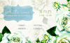 White Rose Watercolor PNG Flower Set Illustration Big Screenshot