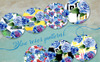 Beautiful Blue Roses - PNG Watercolor Flower Illustration Big Screenshot