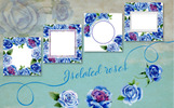 Beautiful Blue Roses - PNG Watercolor Flower Illustration