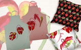 Cool Red Sarracenia PNG Watercolor Set Illustration