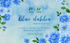 "Ilustrace ""Blue Dahlia Great Flowers PNG Watercolor Set"" Velký screenshot"