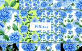 "Ilustrace ""Blue Dahlia Great Flowers PNG Watercolor Set"""