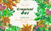Exotic Tropical Set PNG Watercolor Illustration Big Screenshot