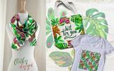Exotic Tropical Set PNG Watercolor Illustration