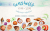 Watercolor Summer Beach Seashell PNG Set Illustration Big Screenshot