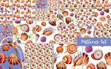 Watercolor Summer Beach Seashell PNG Set Illustration