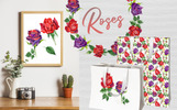 Roses Watercolor PNG Set Illustration