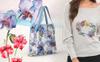 Exotic Red and Blue Orchids PNG Watercolor Set Illustration Nagy méretű képernyőkép