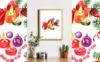 A Set of New Year's Candles PNG Watercolor Illustration Nagy méretű képernyőkép