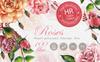 Stunning Roses PNG Watercolor Set Illustration Big Screenshot