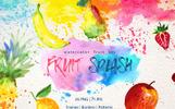 Watercolor Fruits PNG Set Illustration