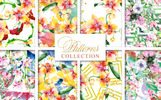 "Иллюстрация ""Magnificent Bouquets Watercolor PNG"""