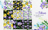 Purple Freesia Watercolor Png Illustration