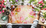 Delicate Red Roses Watercolor png Illustration