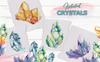 Crystals Blue And Yellow Watercolor Illustration Big Screenshot