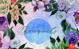 Bouquets Blue Watercolor Png Illustration