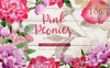 Pink Peonies Watercolor png Illustration Big Screenshot