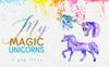 "Illustration namens ""Magic Unicorn Watercolor png"" Großer Screenshot"