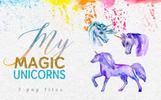"Illustration namens ""Magic Unicorn Watercolor png"""