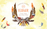 """Ilustrace """"Feather Watercolor Png"""""""