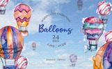 "Template Illustrazione #76666 ""Balloons Watercolor Blue png"""