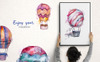 "Template Illustrazione #76666 ""Balloons Watercolor Blue png"" Screenshot grande"
